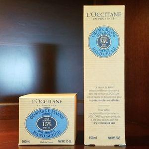 L'OCCITANE Hand Scrub & Shea Butter Cream NIB